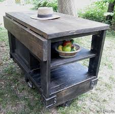 kitchen island cart industrial. Industrial Kitchen Island Etsy Distressed Black Modern Rustic Cart With Walnut Stained