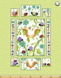 Moose Growth Chart Susybee Bruce The Moose Growth Chart Panel Quilt Fabric 30