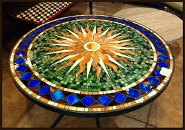 Mosaic Tile Table Interesting Mosaic Tile Patio Table Tile And Glass