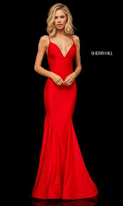 Long Designer Prom Dress With A Trumpet Skirt Long Sherri Hill Prom Dress With Trumpet Skirt