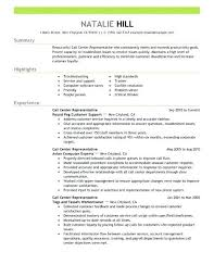 Resume Template For Customer Service Gorgeous Customer Service Representative Resume Examples Simple Call Center