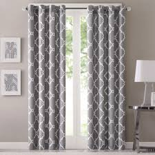 Geometric Patterned Curtains Curtain Trellis Printed Red Curtains Cool Madison Park Westmont