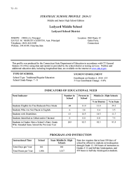 strategic school profile ledyard middle school strategic school profile
