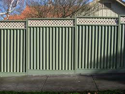 Modren Sheet Metal Fence Steel Fencing Colorbond Throughout Design Ideas
