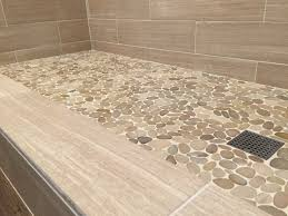 floor tile borders. Sliced Java Tan Pebble Tile Shower Floor Borders