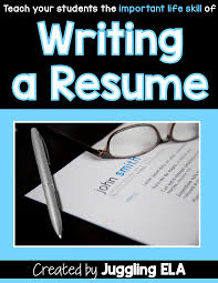 Resume Writing With Your Students Powerpoint Lesson Common Core