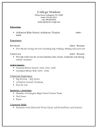 High School Resume For College Cool Example High School Student Resume For College Application