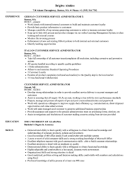 Customer Service Administrator Resume Samples Velvet Jobs
