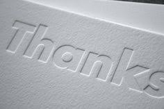 debossing is the opposite of embossing it plants the letters or logo inside the paper pared to embossing which pops it out of the paper