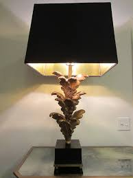 modern lighting shades. Acanthus Gold Leaf Modern Table Lamps On Wood Stands Black Textile Shades Lighting O