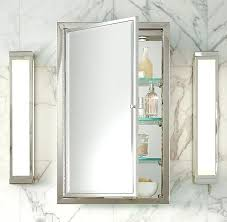 chrome medicine cabinet framed lit right opening inset recessed cabinets b82