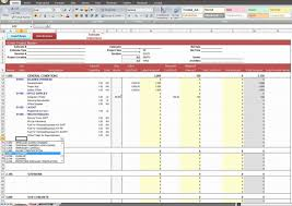 Home Construction Cost Estimate Spreadsheet Excel Template
