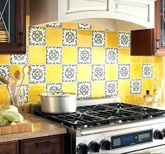 colorful backsplash tiles colorful yellow kitchen ideas walls for prepare sand colored backsplash tiles