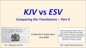 Kjv Vs Nkjv Comparison Chart Kjv Vs Esv Part Ii The New Testament