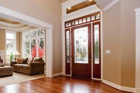 fir front door with glass