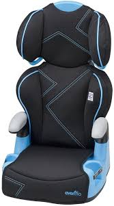 evenflo amp booster seat high back kids booster car seat blue angles