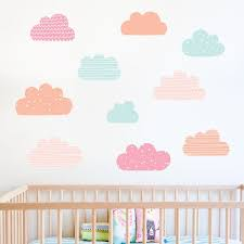 printed pattern cloud wall stickers