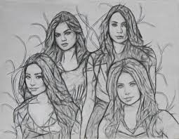 Pretty Little Liars Coloring Pages Colourful