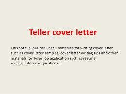Teller Cover Letter Sample Teller Cover Letter