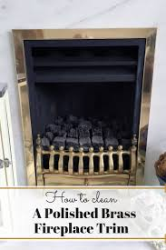 this simple home for cleaning up a tarnished fireplace trim is amazing no idea