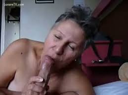 Granny giving blowjob to grandpa