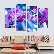 4 pcs dreamy purple flower wall art picture home decoration living room canvas print painting wall picture printing on canvas in painting calligraphy from  on canvas wall art purple flowers with 4 pcs dreamy purple flower wall art picture home decoration living