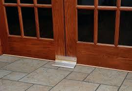double door security home security door brace barricade safety bright brass double sliding glass door security