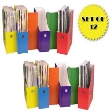 Magazine Holders Cheap Amazon COLORFUL MAGAZINE FILE HOLDERS SET OF 24 Plastic 1