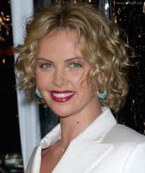 Charlize Theron Short Hair Style charlize theron well above the shoulders curly bob haircut 8523 by wearticles.com