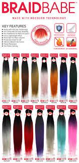 Ombre Braiding Hair Color Chart