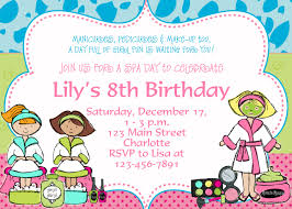 birthday party invitation templates invitations design printable spa birthday party invitation templates