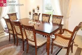 Bador Decoration Tischgruppe Maly Mit 8 Stühlen Aus Echt Holz