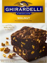 Ghirardelli Walnut Brownie Mix 17 Oz Walmart Com