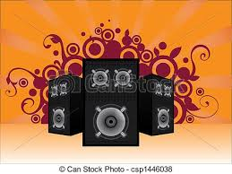 speakers artwork. sound speakers background - csp1446038 artwork