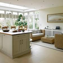 home kitchen furniture. Cream Kitchen With Rattan Furniture Home