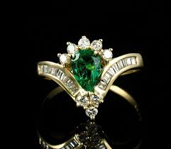 Colombian Ring Size Chart Cei Signed Natural 1 25ctw Colombian Emerald Diamond Halo Solid 14k Gold Ring