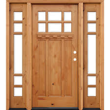 pacific entries 66 in x 80 in craftsman rustic 6 lite stained knotty alder