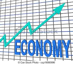 Chart That Shows Economy Graph Chart Shows Increase Economic Fiscal Growth
