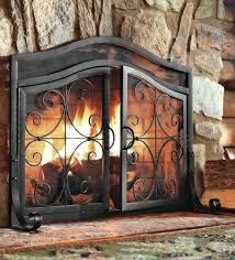 tree fireplace screen plow hearth small crest iron fireplace screen with doors regarding screens plan 1 tree fireplace screen