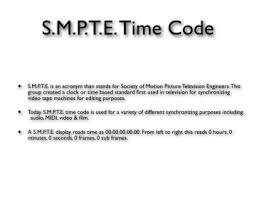 smpte time code pangolin laser