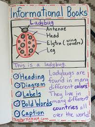 Informational Books Nonfiction Text Anchor Chart For