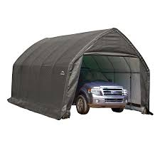 shelterlogic 13 ft x 20 ft polyethylene canopy storage shelter