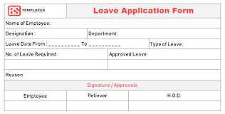 Word Forms Templates Leave Application Form Template For Employee In Excel Word