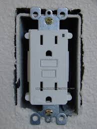 gfci outlet wiring methods fold the wires carefully back inside the receptacle box and install the gfci receptacle