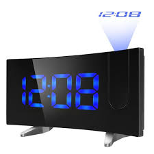 mpow projection alarm clock fm radio alarms digital ceiling usb charging port uk