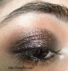glittery plum new year party eye makeup step by step