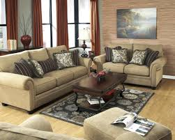 Living Room Sets Ashley Furniture Caramel Color Casual Traditional Sofa Set Couch Fabric Living Room