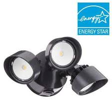 contractor select olf 3rh 3 head bronze outdoor integrated led dusk to dawn round head