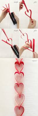 Valentines day Hanging hearts! Super easy! (aside from cutting all the  strips of