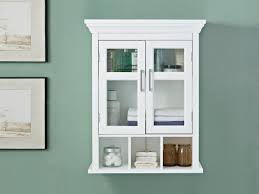 wall mounted bathroom cabinet in white